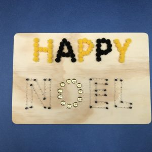 Plaquette Happy Noel Finie